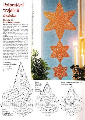 Crochet stars pattern