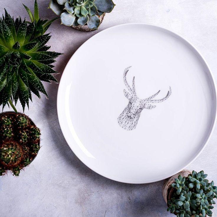 Geometric Deer Dinner Plate & 10 best Artistic dinner plates images on Pinterest