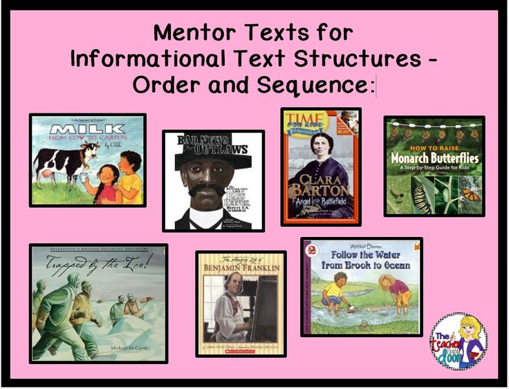 Mentor text for writing all about books