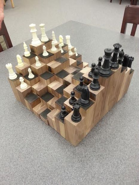 3D Chess Board - so cool! I want this so much!