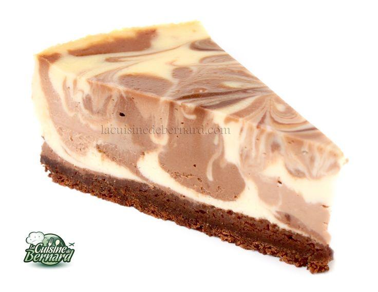 La Cuisine de Bernard : Le Cheesecake aux Deux Chocolats