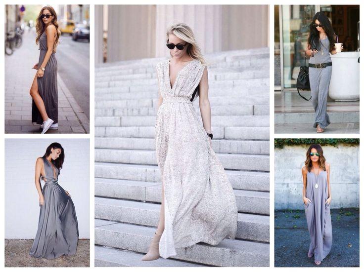серые платья сарафаны