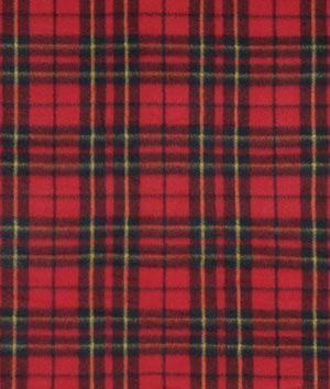 Red Miles Plaid Fleece Fabric - $4.5 | onlinefabricstore.net