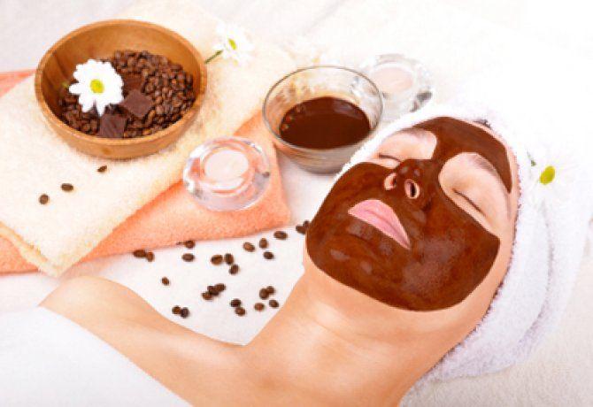 Csokoládés arcpakolás