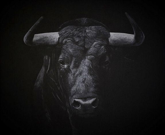 Toro+noir+et+blanc en 2020 | Dessin taureau, Art de vache ...