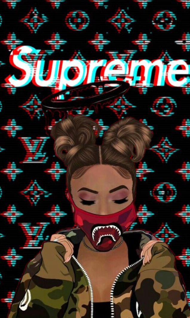 Supreme Gang Supreme Wallpaper Hype Wallpaper Girly Art Cool wallpapers girls supreme