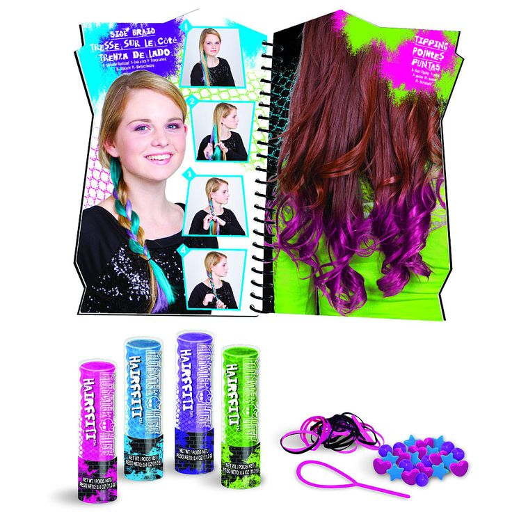 Monster High Hairffiti   Ages: 7 – 15 Create Monster High inspired doo's with this Hairfitti…