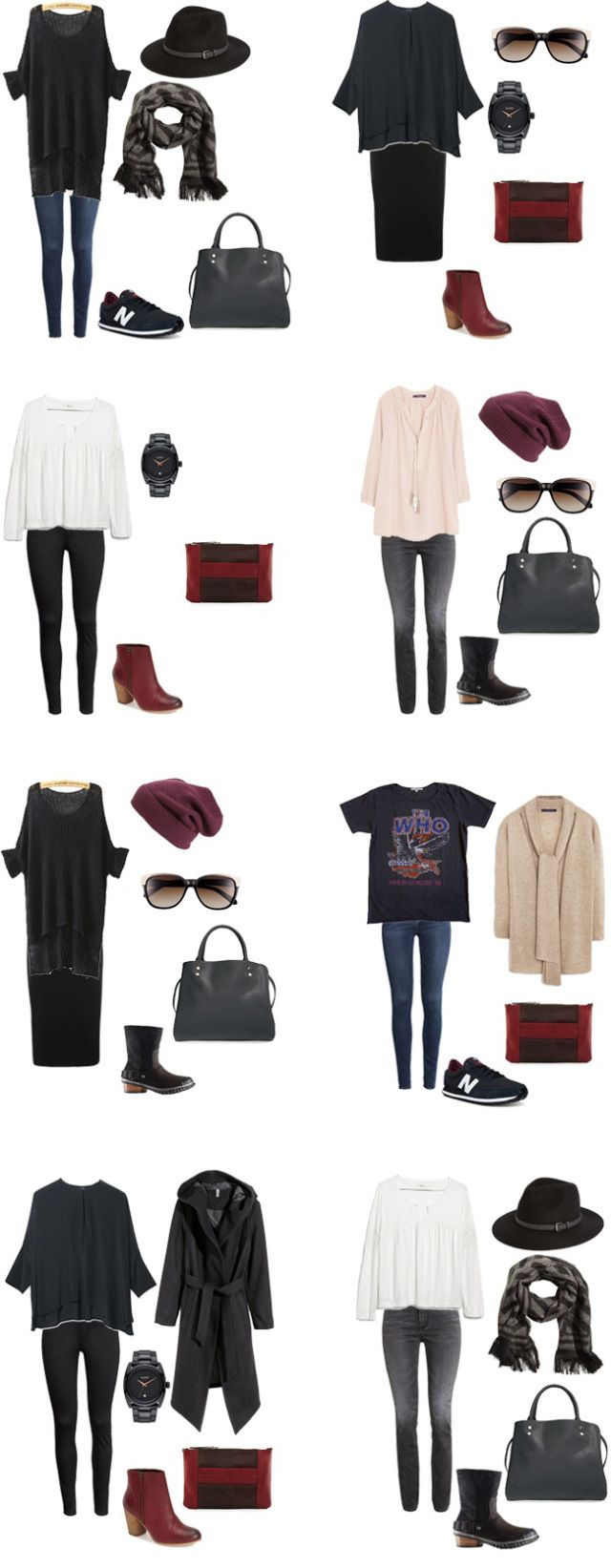 What to Wear in New York City Winter edition Outfits 11-18 #packinglight #travellight #traveltips