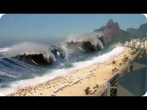 MEGA TSUNAMI - Caught on camera - Biggest Tsunami in the world caught on tape - YouTube
