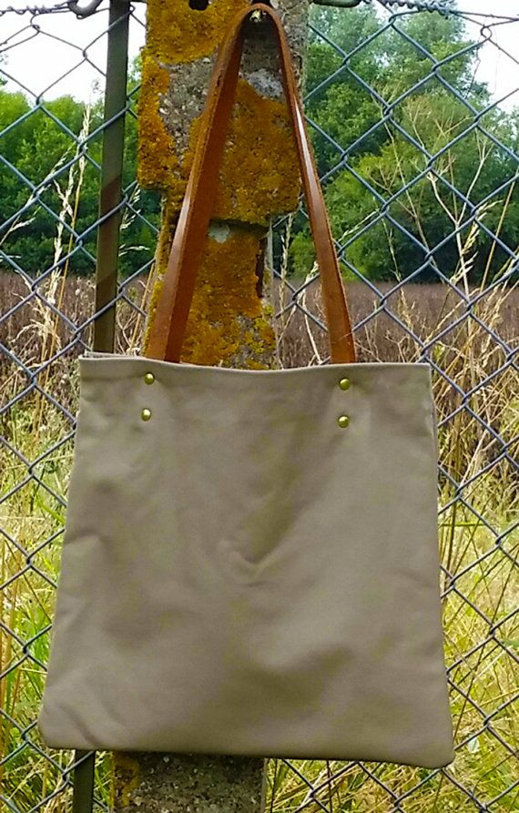 Leather Tote with William Morris lining by AGOODHIDING on Etsy, £75.00