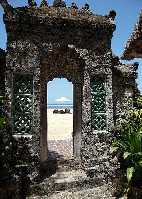 Archway to Sanur Beach, Bali