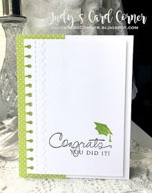 CASology #248: COMMENCEMENT card by Judy using Papertrey Ink stamps