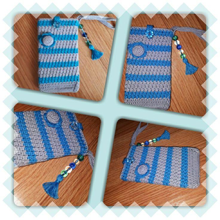 Smart phone crochet cover.