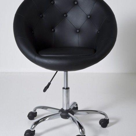 KARE Prague - Swivel Chair Nido Black