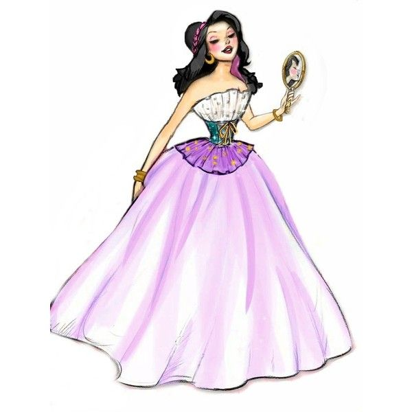 Disney Fashion ❤ liked on Polyvore featuring disney, art, characters, esmeralda and princess