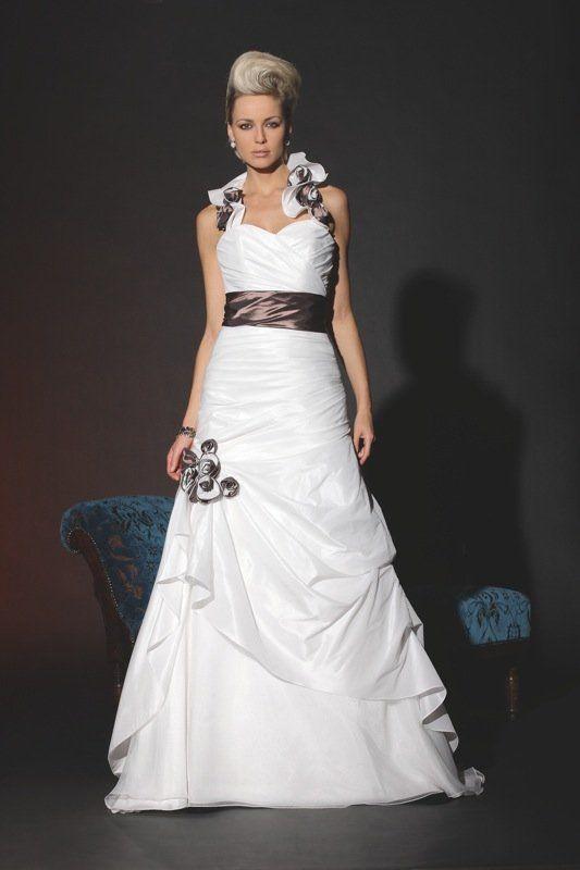 Witte trouwjurk strapless