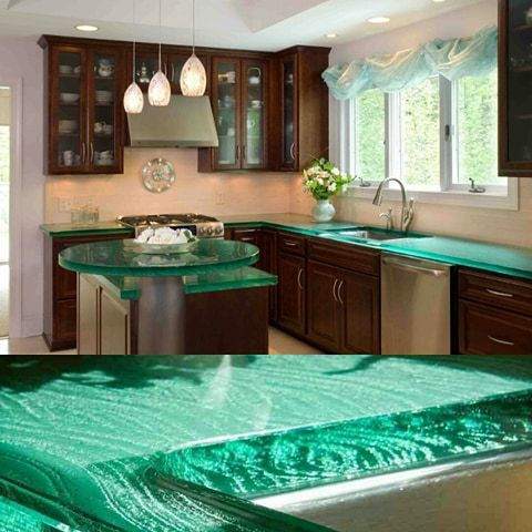The 66 best Unique Glass Kitchen Counter and Island tops images on ...