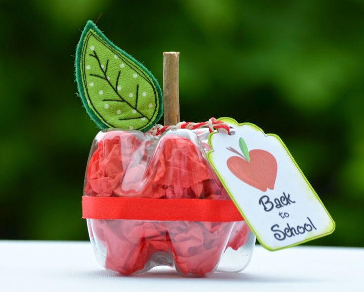 SewforSoul: Teacher Appreciation Gifts ~ Upcycled Bottle Apple Gift Box Tutorial