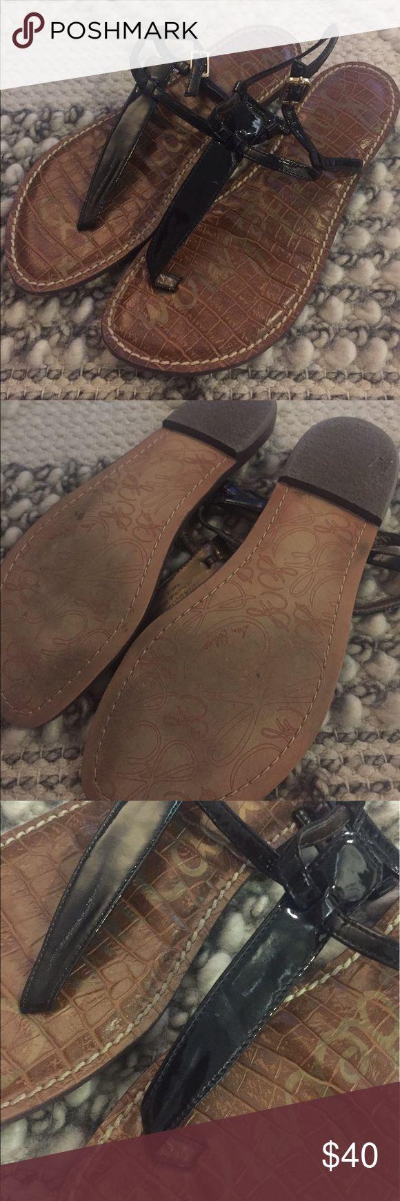 Sam Edelman Gigi Thong Sandal Black Sam Edelman Gigi Sandal. Like new - only worn a few times. Adjustable ankle strap Sam Edelman Shoes Sandals