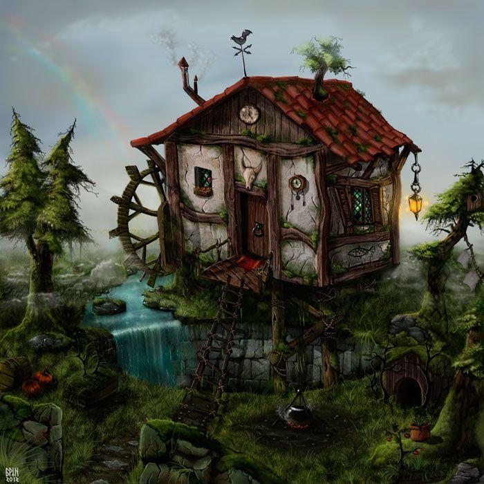 Картинки дом лешего