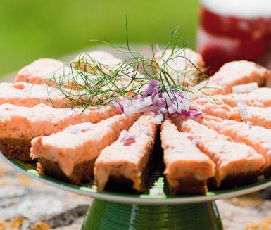 Lax- och romtårta | salmon