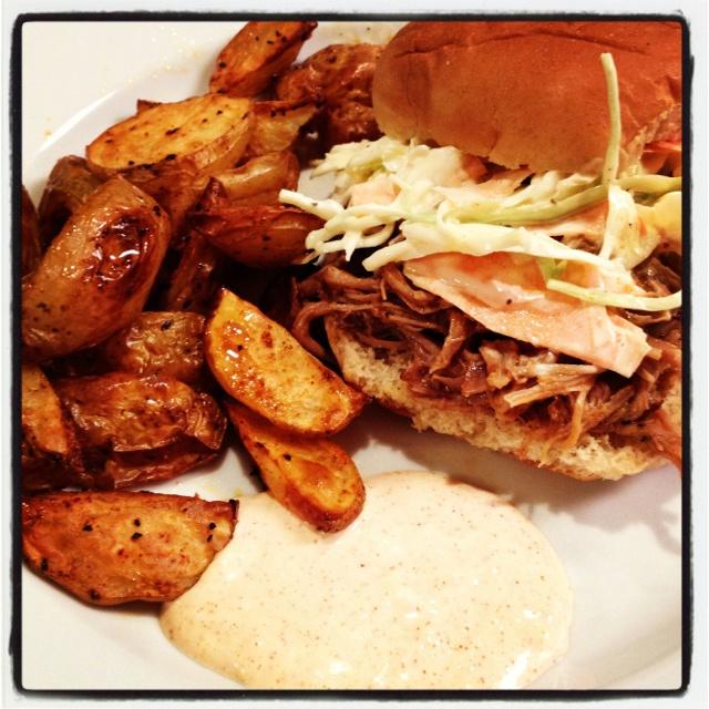 Aioli, Roasted potatoes and Pulled pork on Pinterest