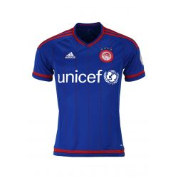 2015/16 Olympiacos Adidas Away Jersey (Blue with Red stripes) Cambiasso 91