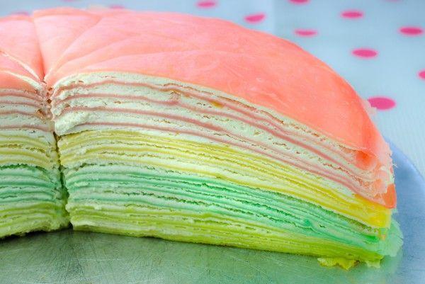 Блинный торт-радуга