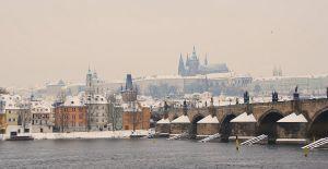Prague under snow by black-ladybird