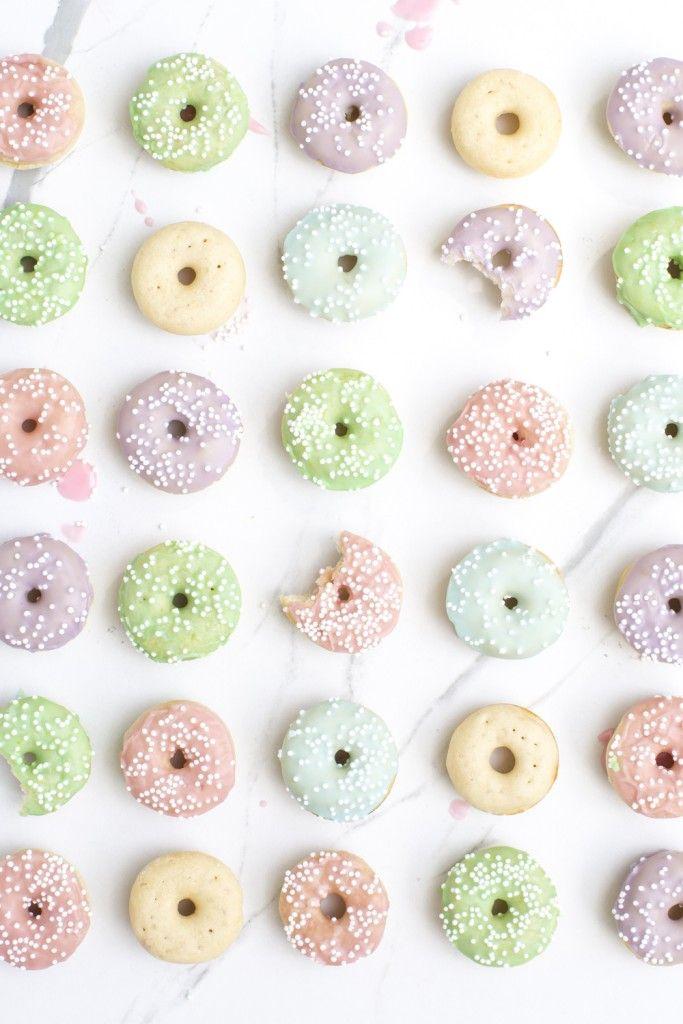 Mini Vanilla Bean Donuts - Cutest Ever!
