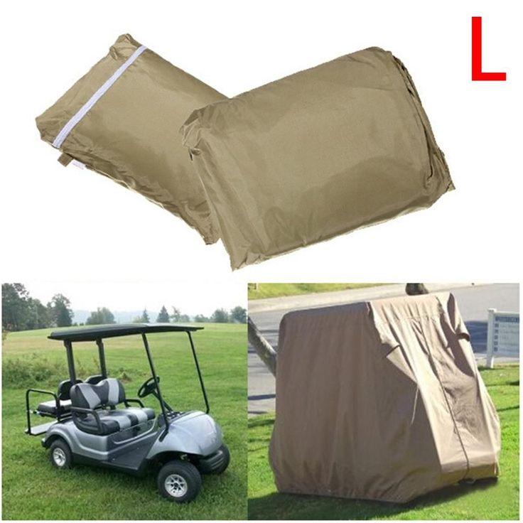Waterproof 4 Passenger Golf Cart Cover for EZ GO Golf Cart Club Car, Size S / M / L