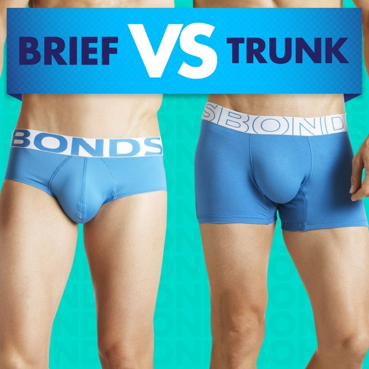 The brief or the trunk? That is the eternal question.