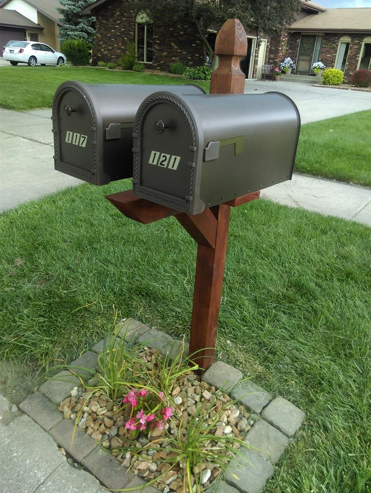Mailbox Stand Designs : Kristen getting crafty double mailbox post makeover