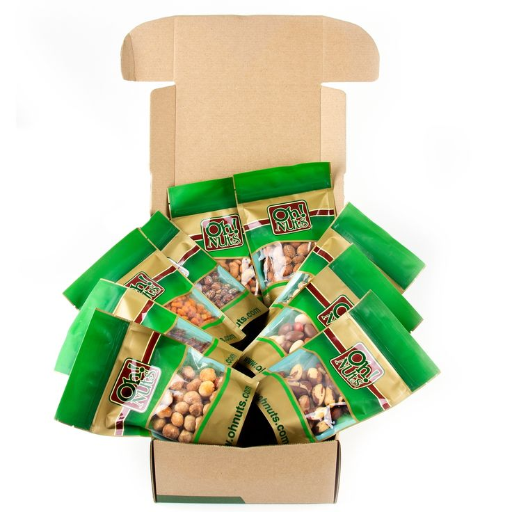 Mixed Nuts Gift Box/ Nuts Gift Basket - Great for Gift Giving Or As an Everyday Snack • Nut Gift Baskets & Platters • Bulk Nuts & Seeds • Oh! Nuts®
