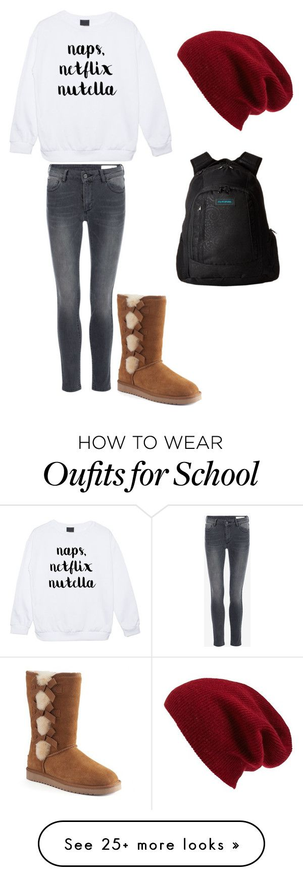 """Winter School Outfit"" by laineeb on Polyvore featuring Halogen, Koolaburra, Dakine and Winter"