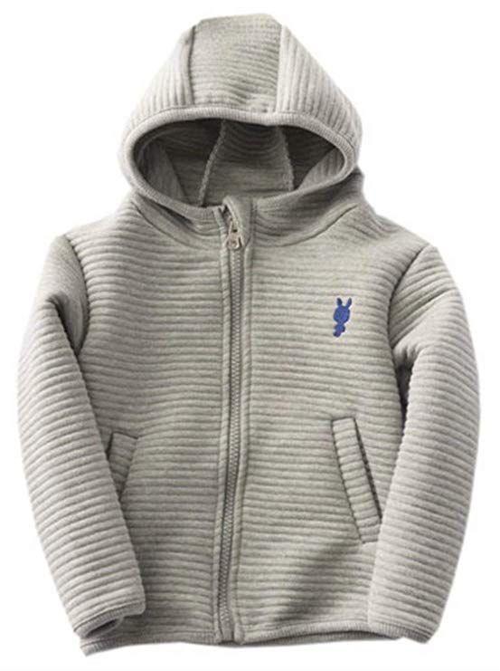 c98ebf0d7567 Betusline Little Baby Boys and Girls Full Zip Hoodie Jacket Coat ...