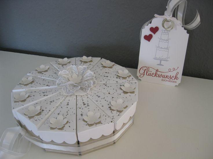 Stampin up money present gift wedding cake hochzeitstorte for Geldgeschenk hochzeit pinterest