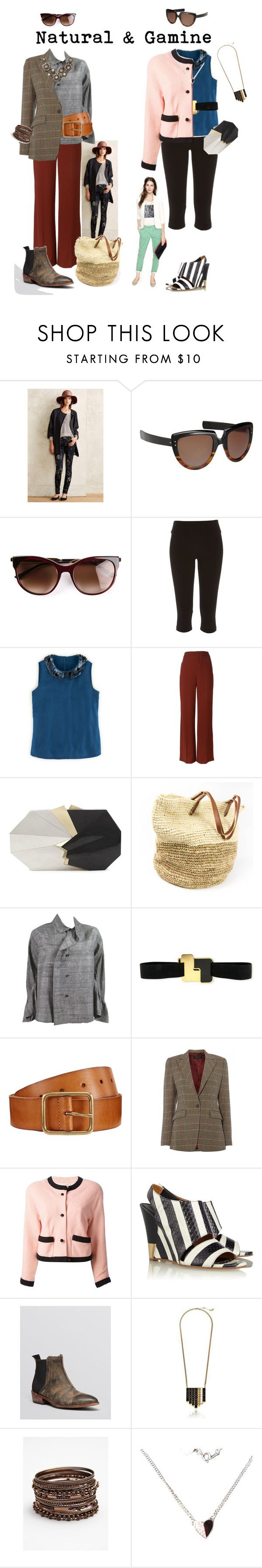 """Natural & Gamine Outfits"" by earthnut ❤ liked on Polyvore featuring Madewell, 7 For All Mankind, Oliver Goldsmith, Thierry Lasry, River Island, Boden, Chloé, Jill Haber, Comme des Garçons and Roksanda"