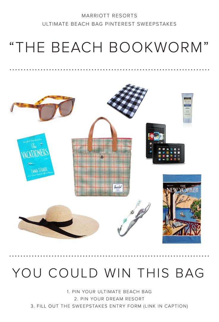 Enter The Marriott Resorts Ultimate Beach Bag Pinterest #sweepstakes For  Your Chance To Win The