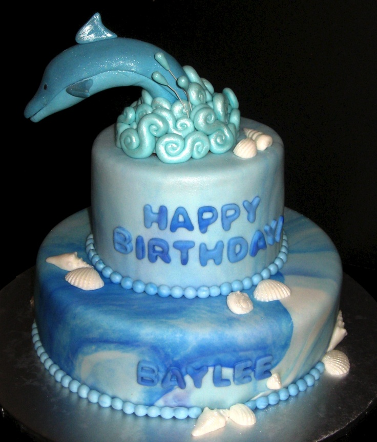 B Day Cake Decoration : 74 best Dolphin Cake Ideas for Emilie & Nikole s 10th B ...