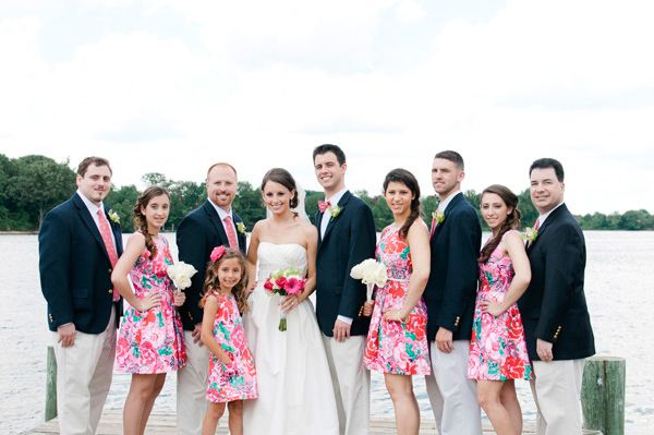 Vineyard Vines for the men, Lilly Pulitzer for the women...the perfect preppy wedding!