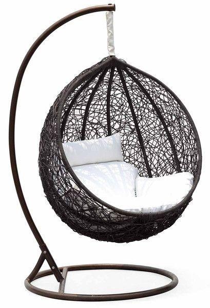 Ceri Synethic Wicker Outdoor Swing Chair – Model - CW003BK – Chans ... #SwingChair