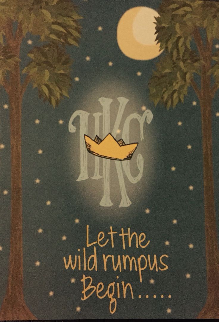 where the wild things are inspired baby shower invite in his