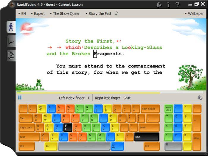 Screenshot von Rapid Typing Tutor - 10-Finger-System