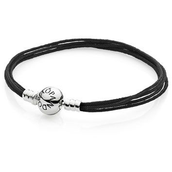 Multi-Strand Black Cord Bracelet - The color black represents strength, power and depth. Combine this sterling silver, five-strand, black fabric bracelet with our existing black, triple leather bracelet to create a bold, stylish look.