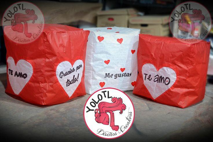 Amor y más amor.... Globo de Cantoya en Forma Básica Personalizado Envíos a toda la república mexicana. Podemos agregar nombres, iniciales, fechas, frases cortas... Siguenos en www.facebook.com/YOLOTLdesigns