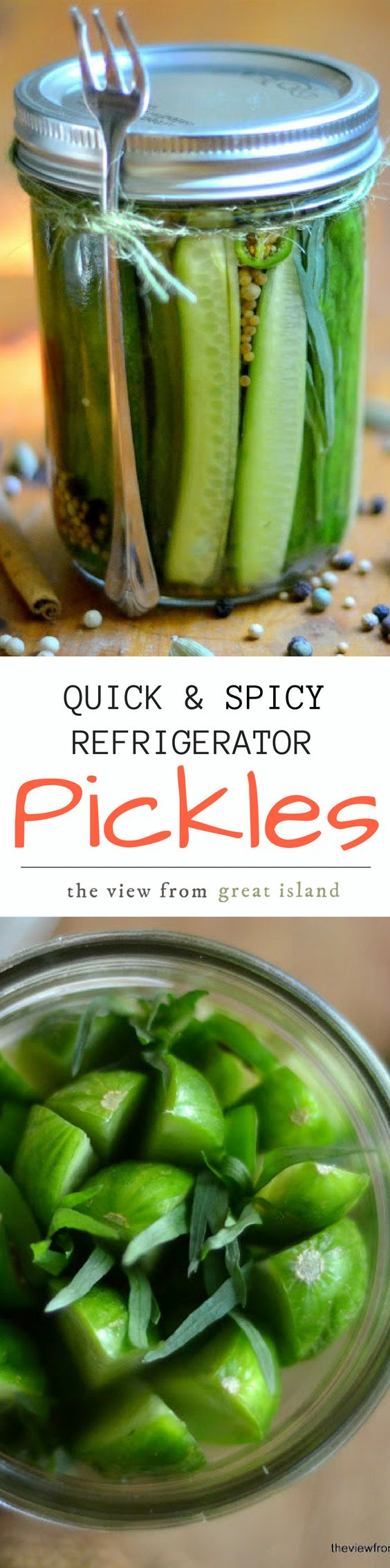 My Quick and Spicy Refrigerator Pickles are ready in under an hour! These spicy dill pickles are super crunchy and so easy to make! | pickling | preserves | cucumbers | canning | Quickles |