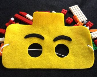 Lego mask set of 6 by NanandGeFavors on Etsy
