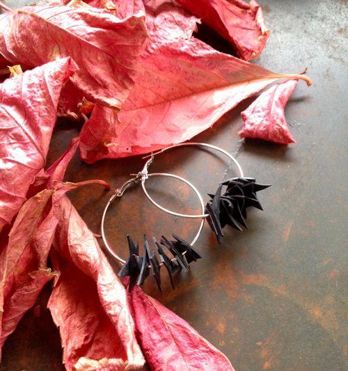 Earrings Rubbish - reused rubber