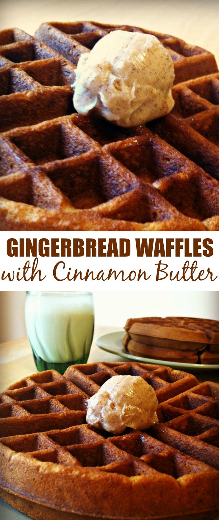 These Gingerbread Waffles with Cinnamon Butter are so amazing and delicious. My family loves to eat them for breakfast on Christmas Day!